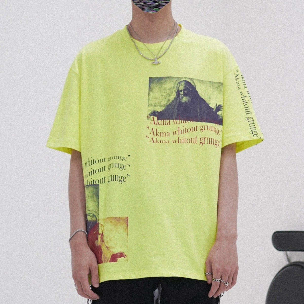 "POP UP SERIES "" AKMA WITHOUT GRUNGE "" T-SHIRT #1 _NEON"