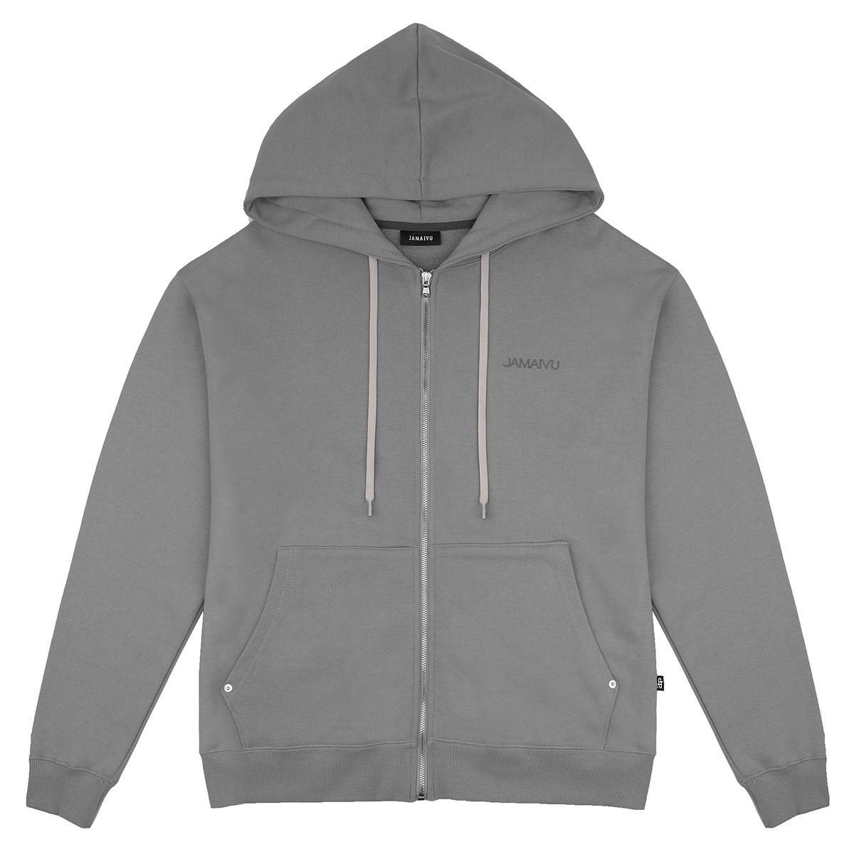 "FIFTH SEASON ""JAMAIVU EMBROIDERED ZIPUP HOODIE"" #GREY"