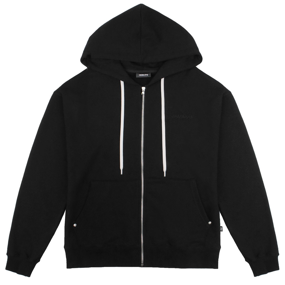 "FIFTH SEASON ""JAMAIVU EMBROIDERED ZIPUP HOODIE"" #BLACK"